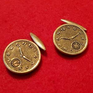 Vintage Steampunk Clocks Cuff Links